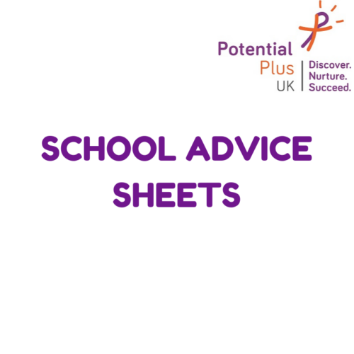 School Advice Sheets