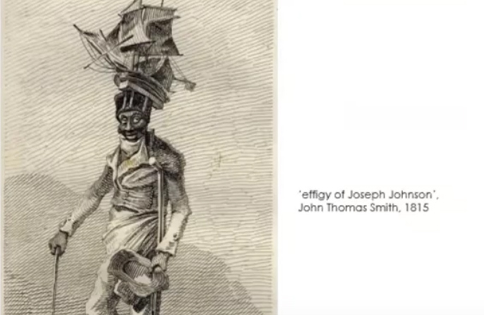 Pencil drawing effigy of Joseph Johnson