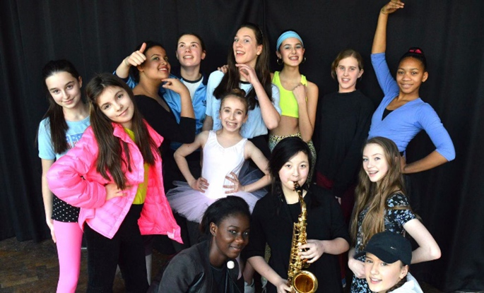 Students from Parliament Hill School Musical