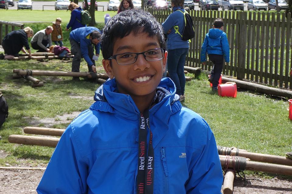 Happy boy at outdoor activity